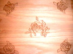 roses embossing pattern